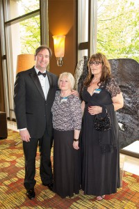 Kevin McBrien, Susan Brosnan and Camille Cavallo at the Boeing Awards Banquet
