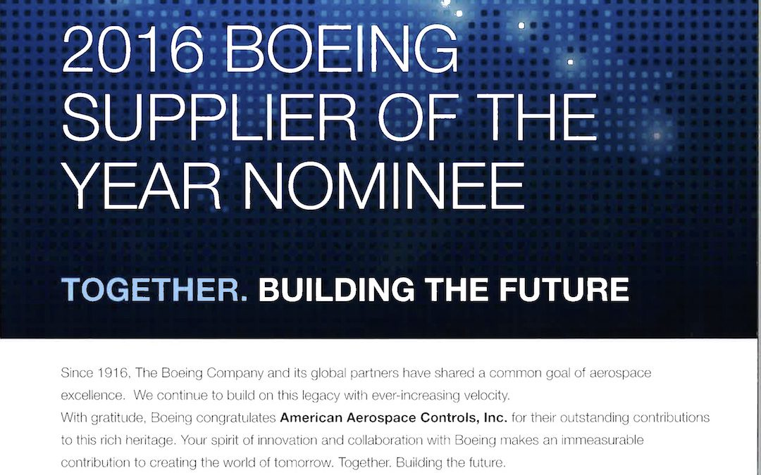 AAC Nominated For Boeing Supplier of the Year